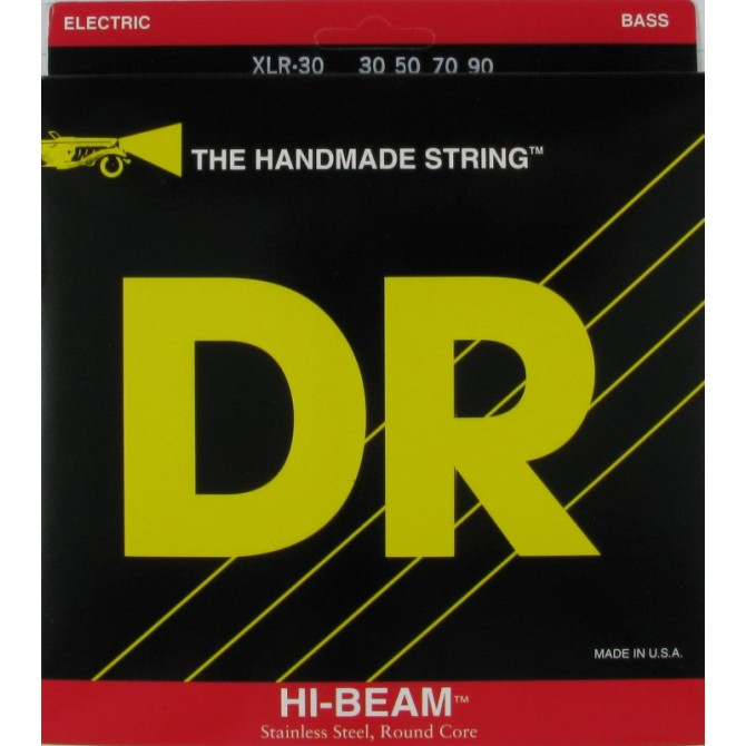 DR XLR-30 Hi Beam 4 String Extra Light (30 - 50 - 70 - 90) Long Scale