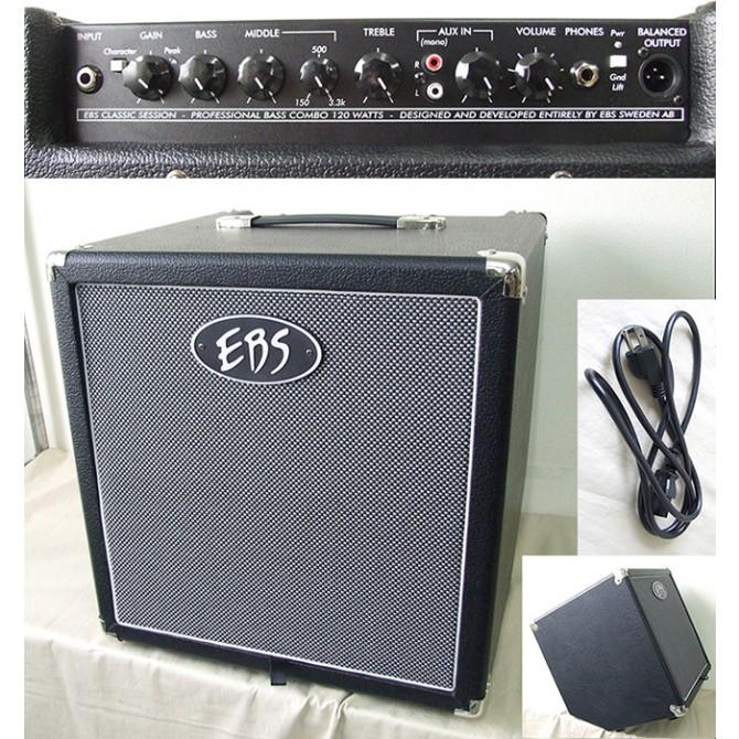 EBS Classic Session 120 Combo - 120 W Tiltback Bass Combo