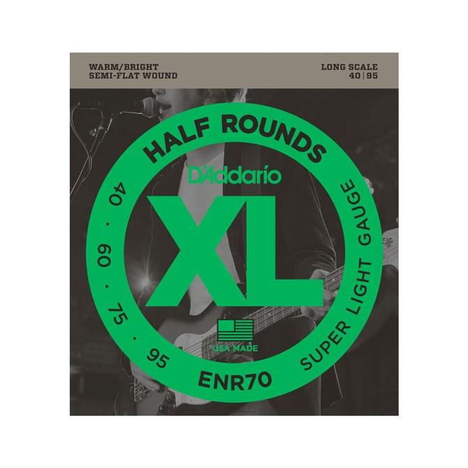 Daddario ENR70 XL Half Rounds Bass 4 String Super Light (40 - 60 - 75 - 95)