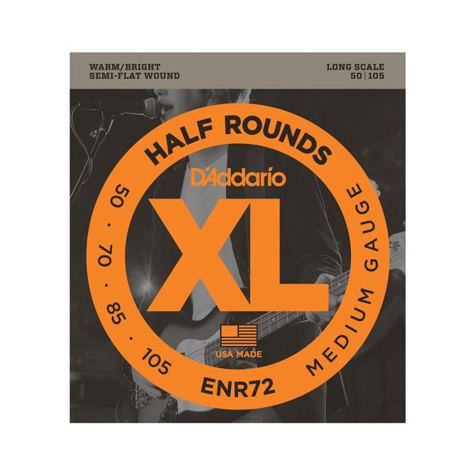 Daddario ENR72 XL Half Rounds Bass 4 String Medium (50 - 70 - 85 - 105) Long Scale