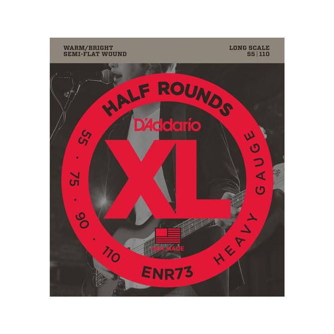 Daddario ENR73 XL Half Rounds Bass 4 Heavy (55 - 75 - 90 - 110) Long Scale