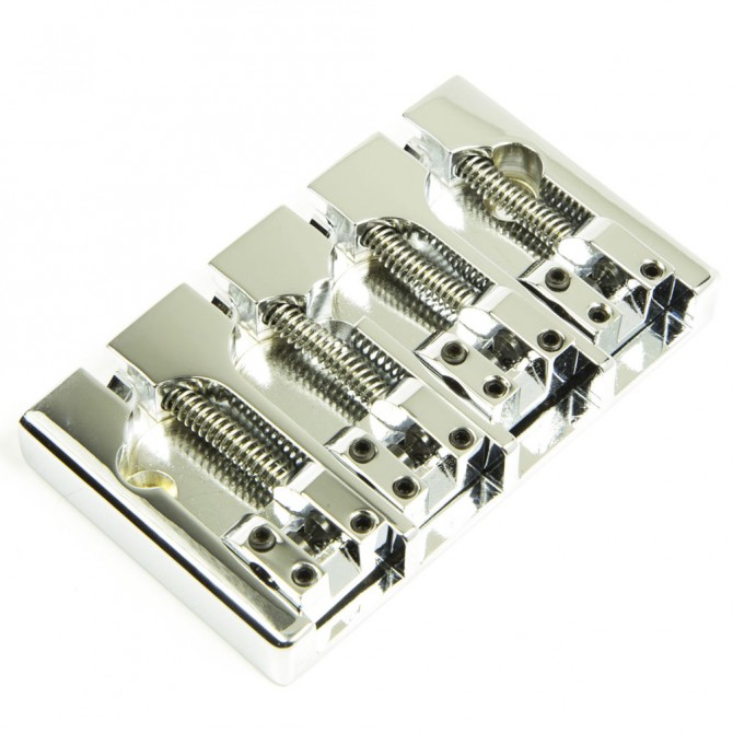 Hipshot AStyle 4String FenderMount1.750 Bass Bridge Aluminum Chrome 19mm Spacing