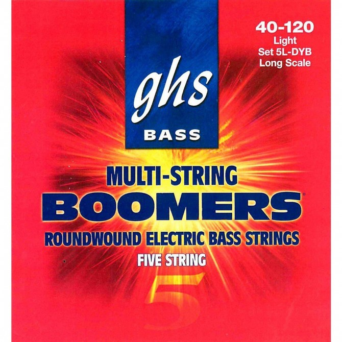 GHS 5L-DYB Bass Boomers 5 String Light (40 - 55 - 75 - 95 - 120) Long Scale