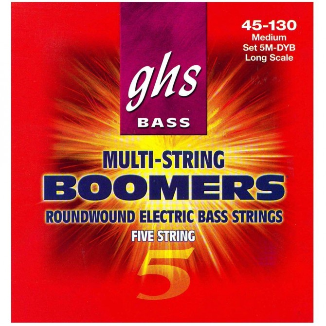 GHS 5M-DYB Bass Boomers 5 String Medium (45 - 65 - 85 - 105 - 130) Long Scale