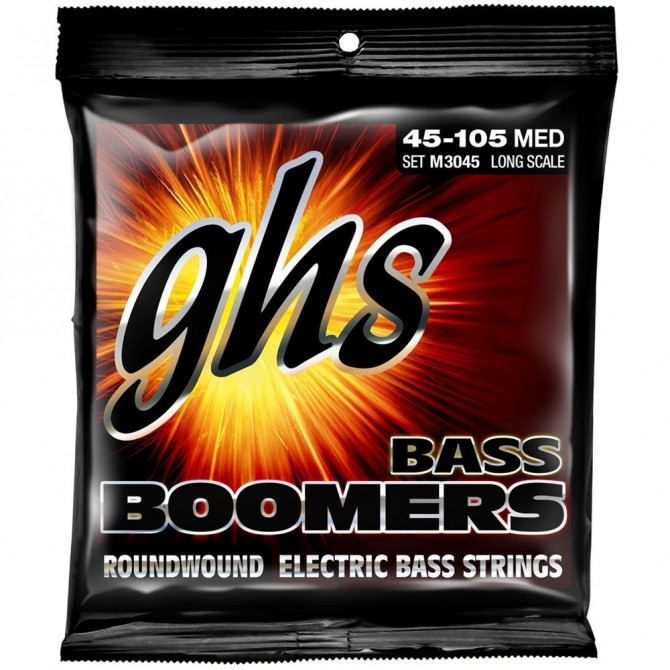 GHS M3045 Bass Boomers 4 String Medium (45 - 65 - 85 - 105) Long Scale