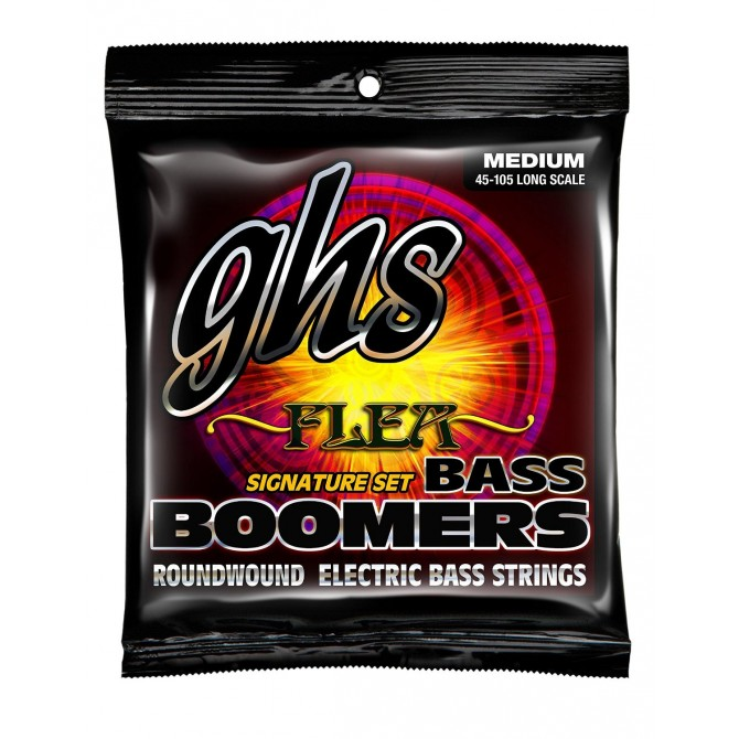 GHS M3045F Flea Signature Bass Boomers 4 String Medium (45 - 65 - 85 - 105) Long Scale