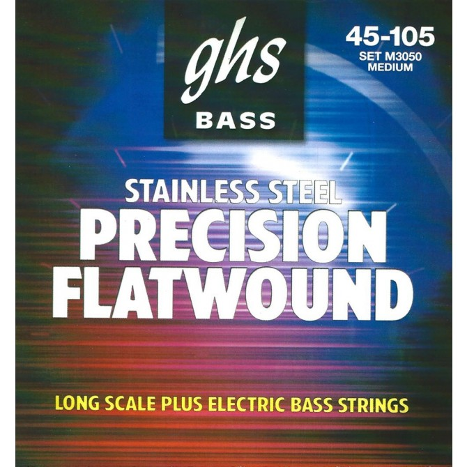 GHS M3050 Stainless Steel Precision Flats 4 String Medium (45 - 65 - 85 - 105) Long Scale