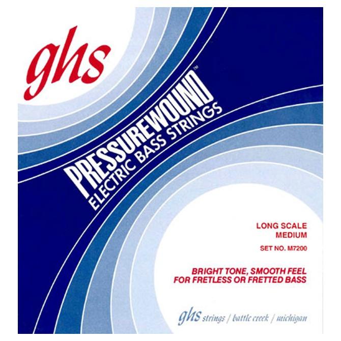 GHS M7200 Pressurewound 4 String Medium (44 - 62 - 84 - 106) Long Scale
