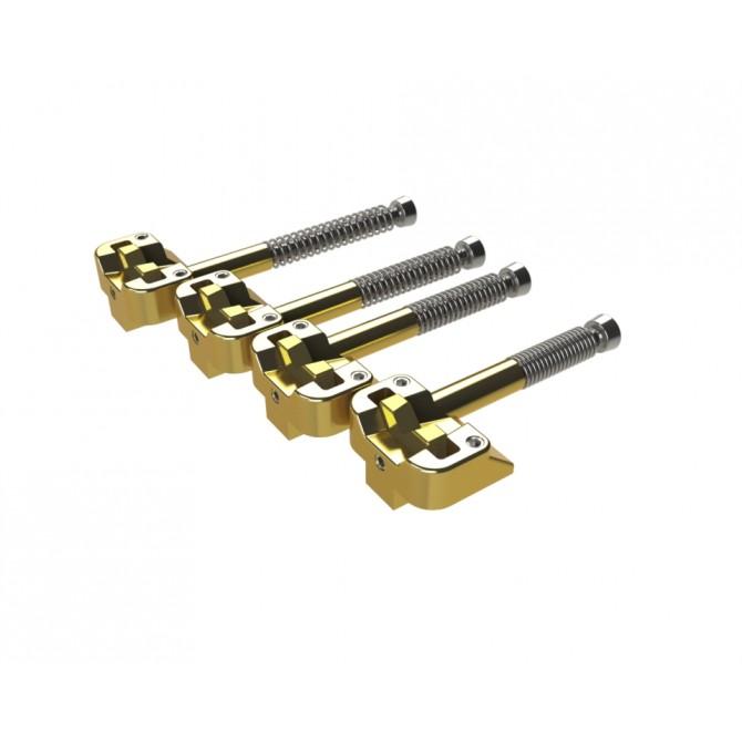 Hipshot KickAss Bridge 4 String Saddle Set Gold