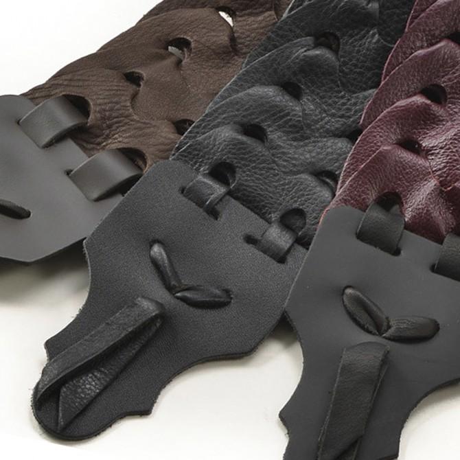 "Franklin Link Glove Leather 2"" Black Strap with Black End Tab"
