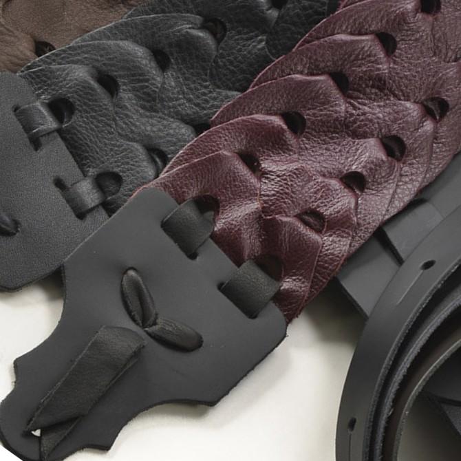 "Franklin Link Glove Leather 2"" Burgundy Strap with Black End Tab"