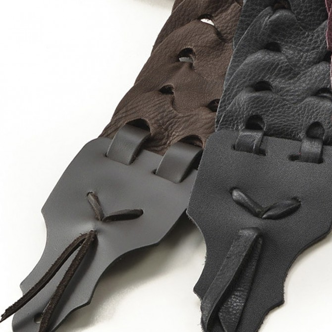 """Franklin Link Glove Leather 3"""" Chocolate Strap with Black End Tab"""