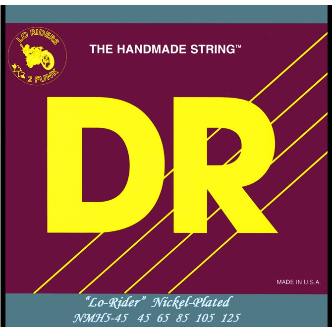 DR NMH5-45 Nickel Lo Rider 5 String Medium (45 - 65 - 85 - 105 - 125) Long Scale