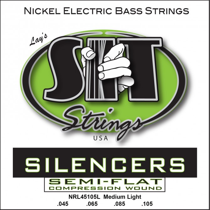 SIT NRL-45105L Silencers Nickel 4 String Medium Light (45 - 65 - 85 - 105) Long Scale