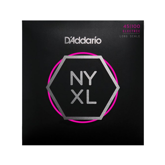 Daddario NYXL45100 4 String Regular Light (45 - 65 - 80 - 100) Long Scale