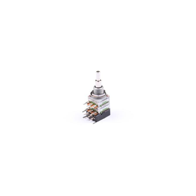 NOLL 500k Volume/Volume Potentiometer Linear Taper Stacked Push/Pull 4/6mm Solid Shaft