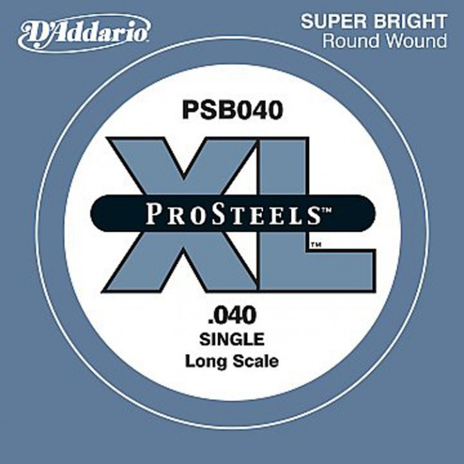 Daddario PSB040 ProSteels Single String 40 Gauge Long Scale