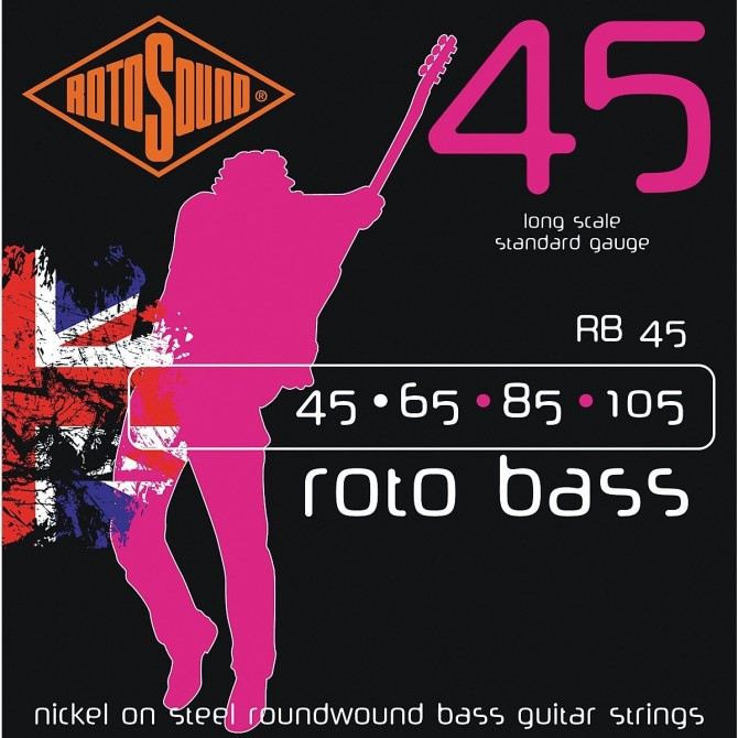 Rotosound RB45 Roto Bass 4 String Standard (45 - 65 - 85 - 105) Long Scale