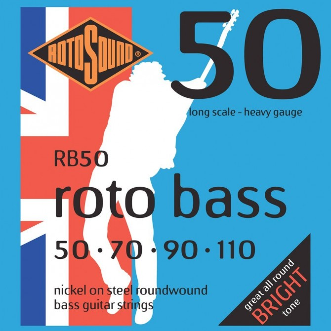 Rotosound RB50 Roto Bass 4 String Standard (50 - 70 - 90 - 110) Long Scale