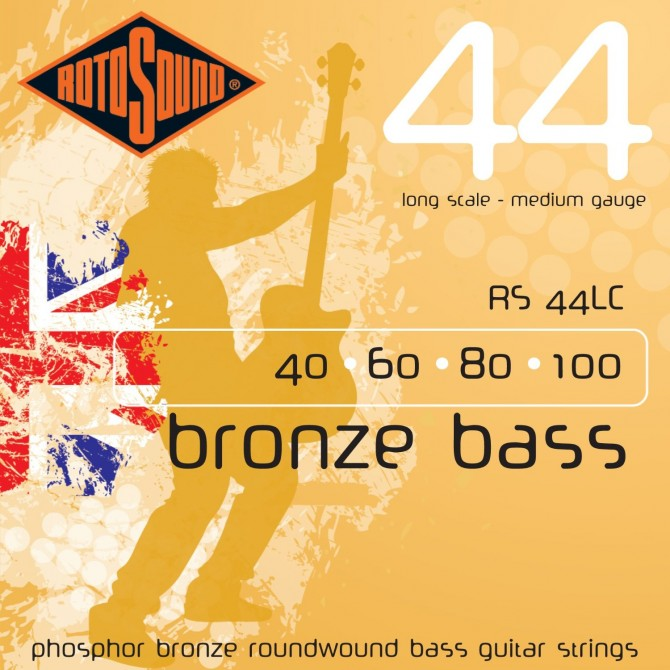 RotoSound RS44LC Bronze Bass 44 4 String Medium (40 - 60- 80 - 100) Long Scale