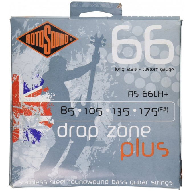 Rotosound RS66LH+ Swing Bass 66 Stainless 4 String Drop Zone+ (85  - 105 - 135 - 175) Long Scale