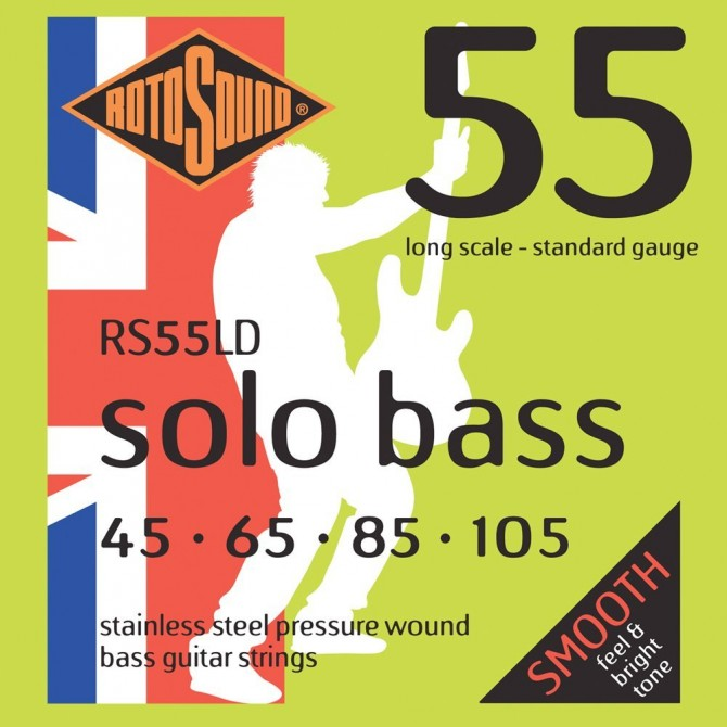 RotoSound RS55LD Solo Bass 55 4 String Standard (45 - 65 - 85 - 105) Long Scale