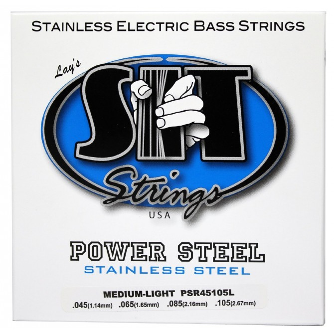 SIT PSR-45105L Power Steel Stainless 4 String Medium Light (45 - 65 - 85 - 105) Long Scale