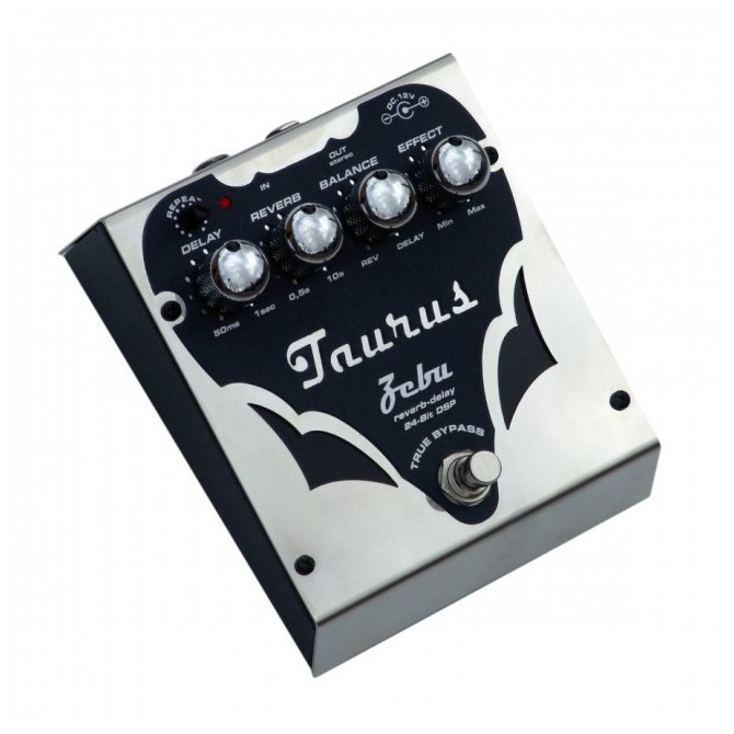 Taurus Zebu SL- Reverb- Delay Bass Effect Pedal-Silver Line