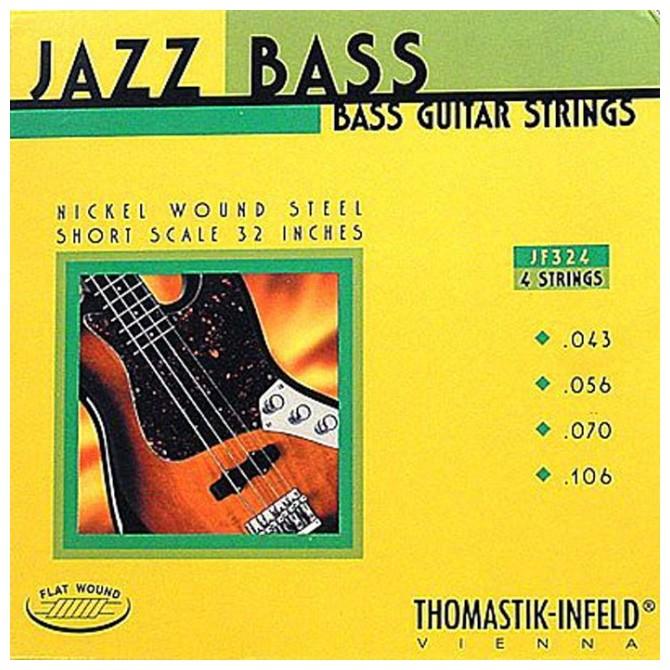 Thomastik-Infeld Hofner JF324, 4 String, Jazz Bass, Flat Wound  (43, 56, 70, 96)