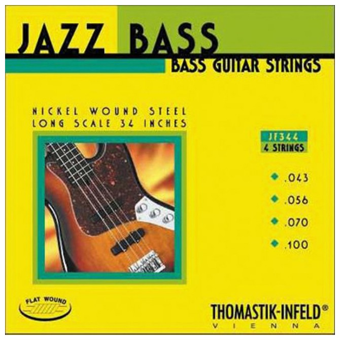 Thomastik-Infeld JF344, 4 String, Jazz Bass, Flat Wound, Long scale (43, 56, 70, 100)
