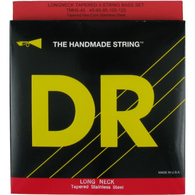 DR TMH5-45 Long Necks 5 String Medium (45 - 65 - 85 - 105 - 125) Long Scale