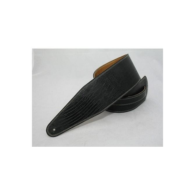 Pete Schmidt Ultra Series Black Iguana Bass Guitar Strap