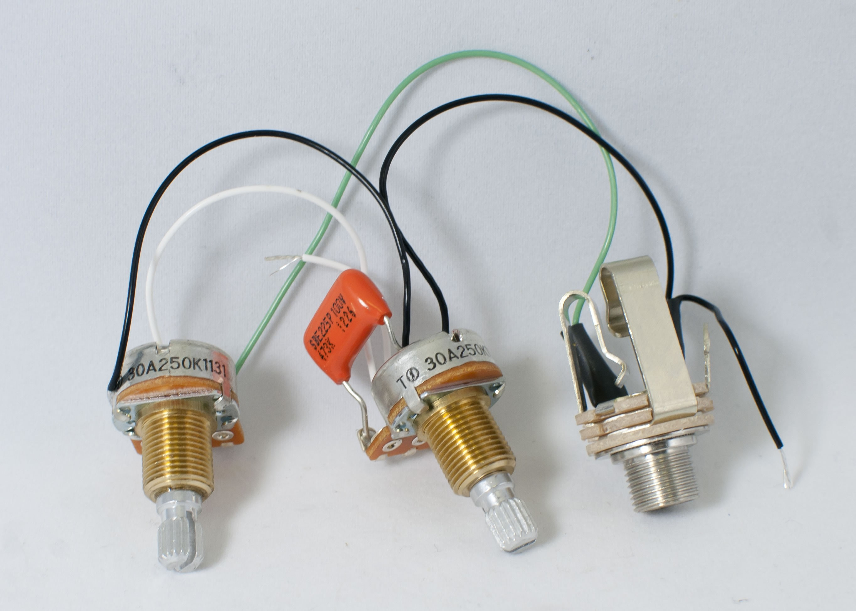 Prewired (for P Bass) Passive Harness (Volume-Tone) - Best Bass Gear