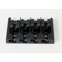 Hipshot AStyle 4String .718 Bass Bridge Aluminum Black 18mm Spacing
