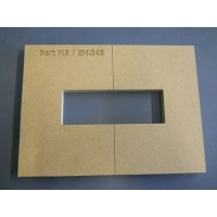 Mike Plyler Pickup Routing Template for Bart M5/EMG45