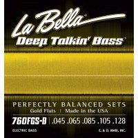 Labella 760FGS-B Deep Talkin' Bass Gold Flats 5-String Standard (45 - 65 - 85 - 105 - 128)