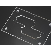"Nordstrand 3/16"" Thick Acrylic Precision Size Template"
