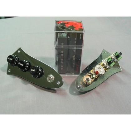 Dimarzio DP249-BK (With Control Plate) 4 String Jazz L/S Size Area J Split Coil Set