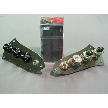 Dimarzio DP123-CR (With Control Plate) 4 String Jazz L/S Size Model J Split Coil Set