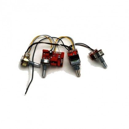 Glockenklang 2-Pickup 4-Knob 2-Band Vol P/P A/P - Bl - Treb - Bass
