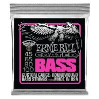 Ernie Ball Super Slinky Coated Electric Bass Strings - 45-100 Gauge