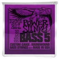 Ernie Ball 5-String Power Slinky Nickel Wound Electric Bass Strings - 50-135 Gauge