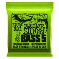 Ernie Ball 5-String Regular Slinky Nickel Wound Electric Bass Strings - 45-130 Gauge