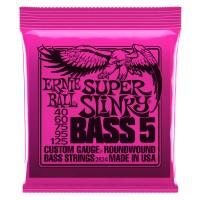 Ernie Ball 5-String Super Slinky Nickel Wound Electric Bass Strings - 45-125 Gauge