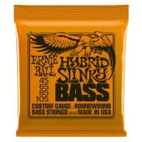 Ernie Ball Hybrid Super Slinky Nickel Wound Electric Bass Strings - 45-105 Gauge