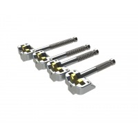 Hipshot Kickass 4-String Saddle Sets - Chrome