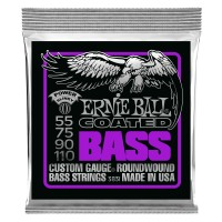 Ernie Ball Power Slinky Coated Electric Bass Strings - 55-110 Gauge
