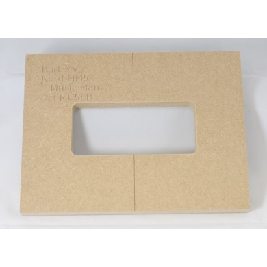 "Mike Plyler 1/2"" Thick MDF MV(Ernie Ball MM) Size Template"