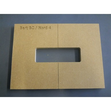 "Mike Plyler 1/2"" Thick MDF BC Size Template"