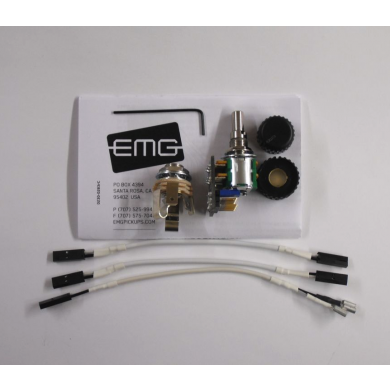 EMG 25k Volume/Tone Potentiometer Audio Taper 6/8mm Solid Shaft Solderless
